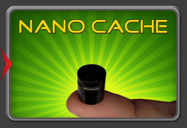Nano Cache Camo Green/yellow/black (Magnetisch) with logsheet