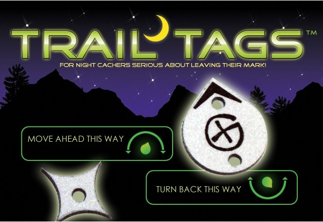TrailTags Reflective Tags (25pk) for Night Caches