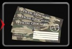 Official Geocache Decal - 3 pieces -