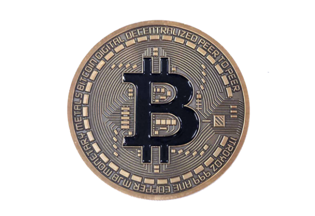 Bitcoin Geocoin - Antique Gold