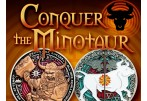 Conquer the Minotaur Geocoin (Coin & Proxy) - Antique Silver on Antique Gold -