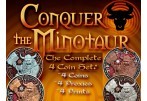Conquer the Minotaur Geocoin 4 GEOCOINS + 4x PROXIE - SET (with LE coin)