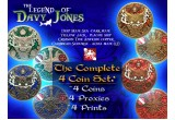 The Legend of Davy Jones Geocoin Set (4 Coin & 4 Proxy set)