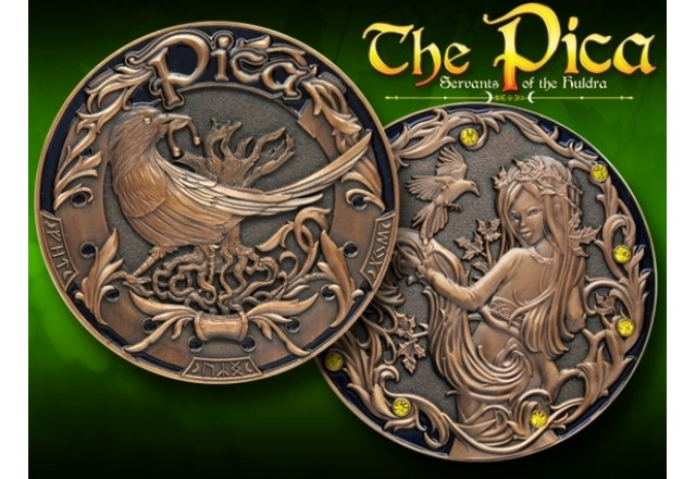 The Pica - Servants of the Huldra (Coin & Proxy Set) - Antique SIlver