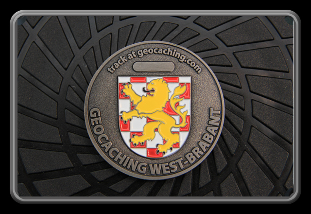 Geocoin Geocaching around the world - West Brabant