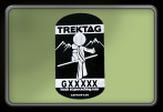 Trackable Decal (Bicycle Decal) - Hiker Boy - Black