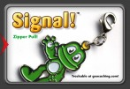 Signal! - Trackable Zipper pull / Necklace (Black Nickel)