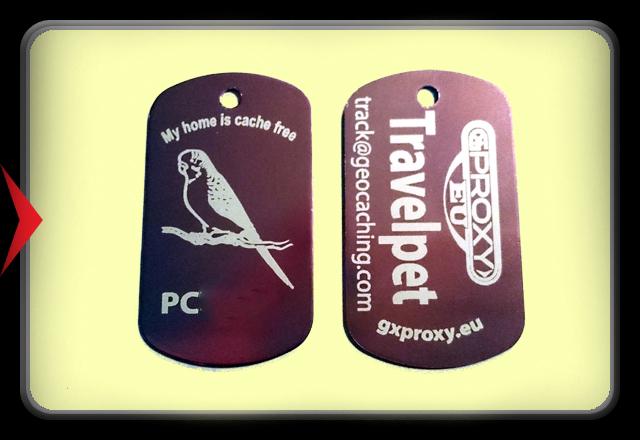 TravelPet DogTag - Parakeet -