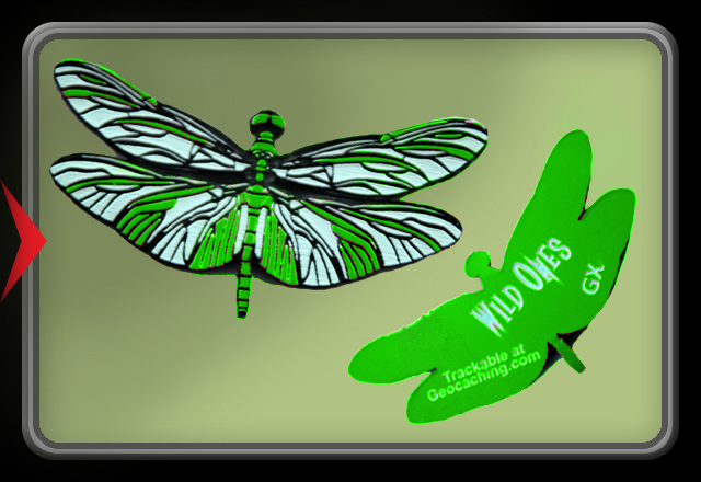 Wild Ones - Dragonfly Trackable - Green