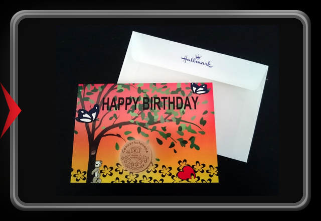 Hallmark Wooden Geocoin Birthday Card