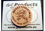 Wooden Christmas Coin 2015