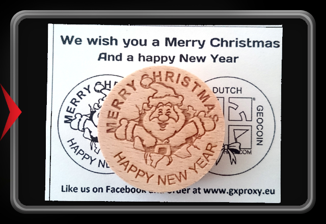 Wooden Christmas Coin 2016