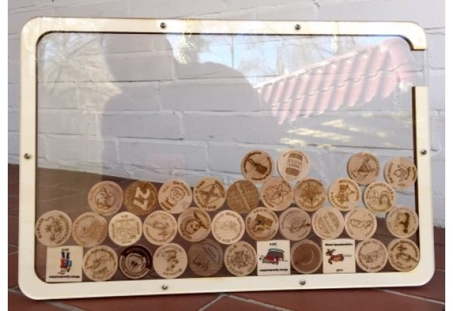 Wooden Coin Collector