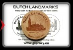 Dutch Landmarks Wooden Coin #3  The Hague - Peace Palace