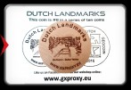Dutch Landmarks Wooden Coin #8  Giethoorn - Dutch Venice