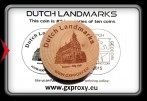 Dutch Landmarks Wooden Coin #2  Gouda - City Hall