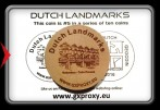 Dutch Landmarks Wooden Coin #5  Rotterdam - Cube Houses