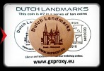 Dutch Landmarks Wooden Coin #7  Sneek - Waterpoort