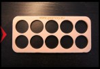 Wooden Geocoin Holder (Foam) - 10 coins -