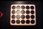 Wooden Geocoin Holder (Foam) - 20 coins -