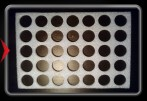 Wooden Geocoin Holder (Foam) - 35 coins -