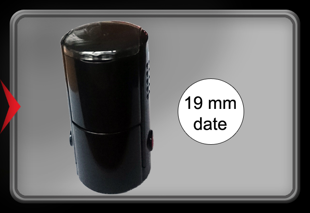 Self-inking Stamp WITH DATE- Ø 19 mm