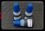 Bottle of ink for flash stamp